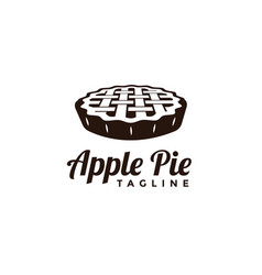 Seal badge apple pie logo vector