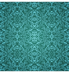 Seamless emerald floral pattern vector image