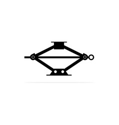 small car lift jack icon concept for vector image