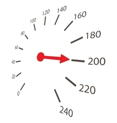 Speedometer scale icon cartoon style vector image