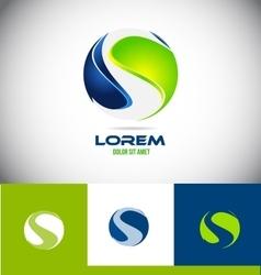 Sphere letter S 3d logo vector