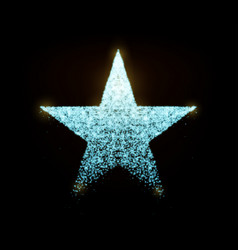 Star with glowing particles isolated on vector