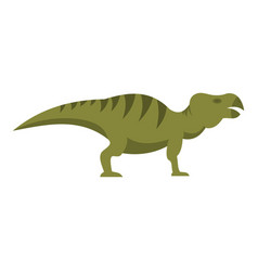 striped hadrosaurid dinosaur icon isolated vector image