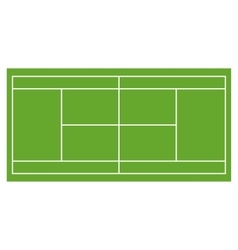 Tennis court grass field infographics app design vector