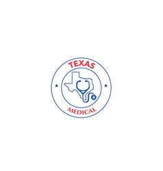 texas logo medical vector image