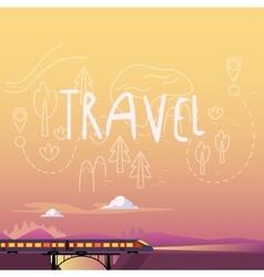Train Summer Travel vector