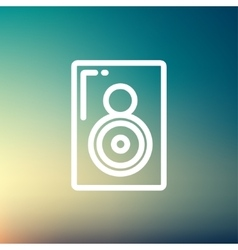 Two way audio speaker thin line icon vector image