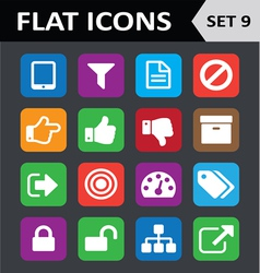 Universal Colorful Flat Icons Set 9 vector