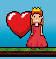 video game princess design vector image