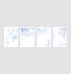 wash splash 5x7 invitation card background vector image