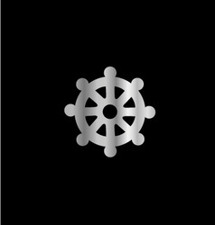 Wheel of Dharma- Symbol Buddhism vector image