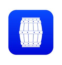 wooden barrel icon digital blue vector image