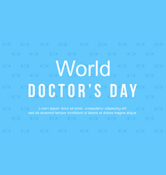 world doctorday card style collection vector image