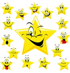 yellow stars vector image