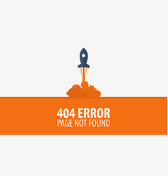 404 error page not found ui ux template for vector image vector image