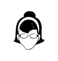 avatar female person head vector image vector image
