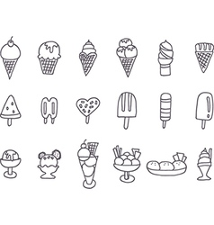 Collection of tasty ice cream vector image vector image