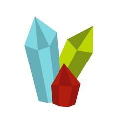 Diamonds icon flat style vector
