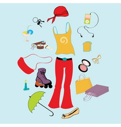 funky teen lifestyle vector image