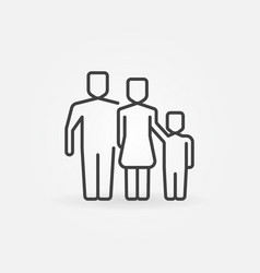 outline family icon vector image vector image