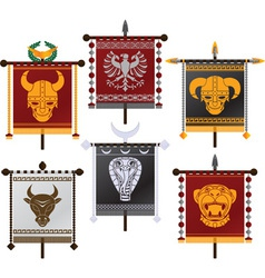 set of fantasy standards second variant vector image