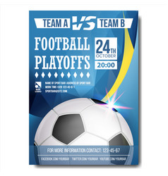 soccer poster design for sport bar vector image
