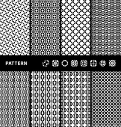 Black and White Seamless Patterns vector image vector image