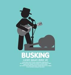 Busking Street Performance Symbol vector image vector image
