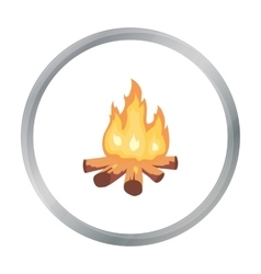 Campfire of stone age icon in cartoon style vector image vector image