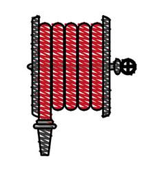 fire extinguis hose vector image vector image