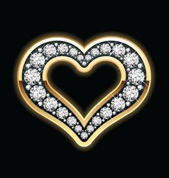 heart in diamonds vector image