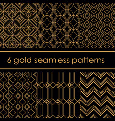 set of luxury beautiful gold vector image vector image