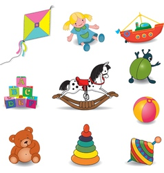 toys set of eight color vector image vector image