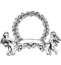 angels heraldry vector image vector image