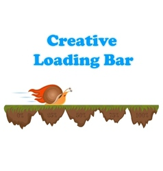 Fast and slow snail progress loading bar vector image