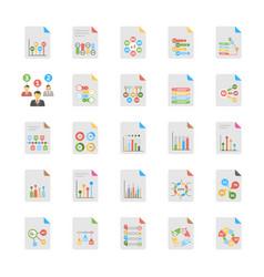 flat set of business analytics vector image