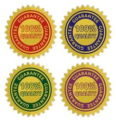 Guarantee label vector image vector image