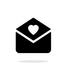 Love letter icon on white background vector image