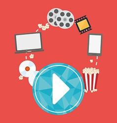 Movie digital design vector