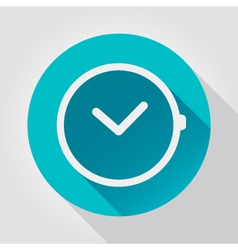 Time clock icon flat design vector image vector image