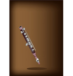 A Symphonic Piccolo on Dark Brown Background vector image vector image