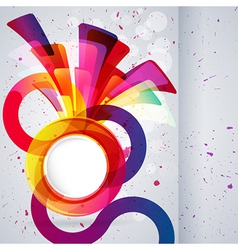 Abstract background with design elements vector image