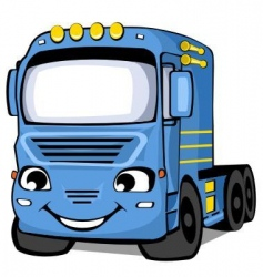 blue truck vector image vector image