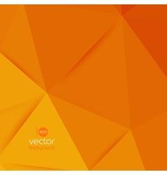 Abstract geometric orange background vector