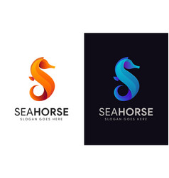 Abstract modern letter s for sea horse logo icon vector