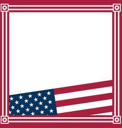 american flag symbols border frame vector image