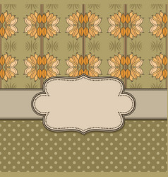 art nouveau abstract flower frame with text place vector image