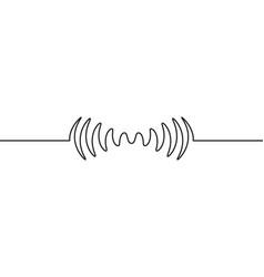 audio sound wave music waveform pulse vector image