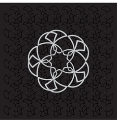 Background of geometry flowers vector