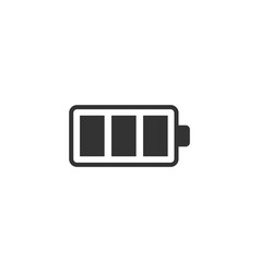 Battery charge icon in flat style power level vector